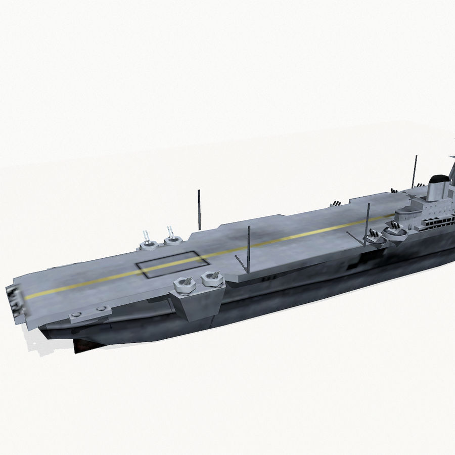 Implacable-class carrier royalty-free 3d model - Preview no. 8
