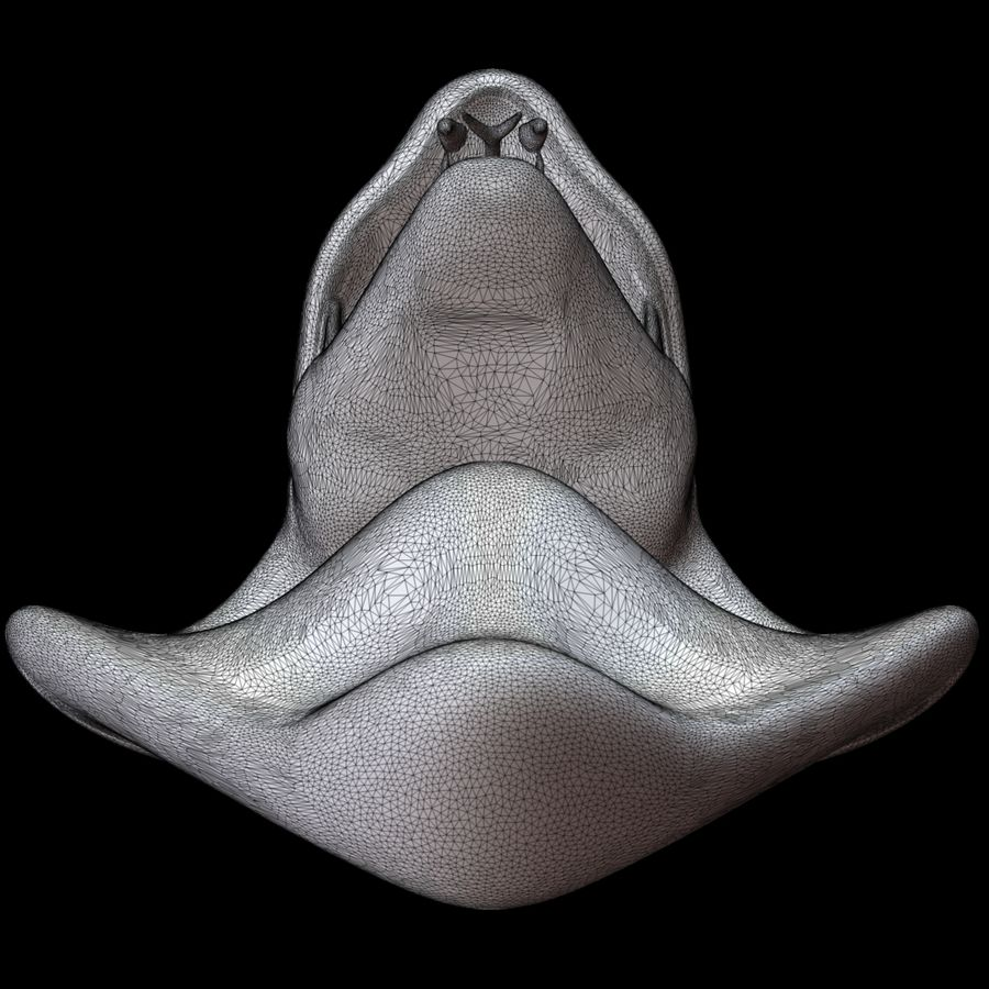 Scultura di testa di serpente royalty-free 3d model - Preview no. 18