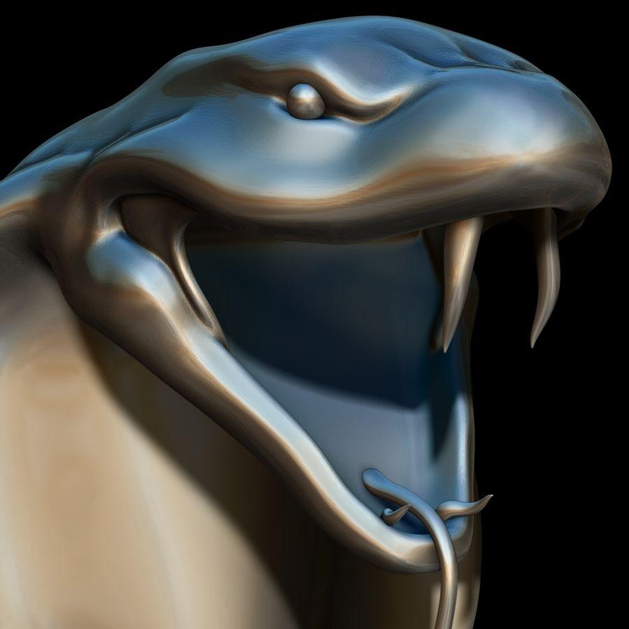 Sculpture tête de serpent royalty-free 3d model - Preview no. 7