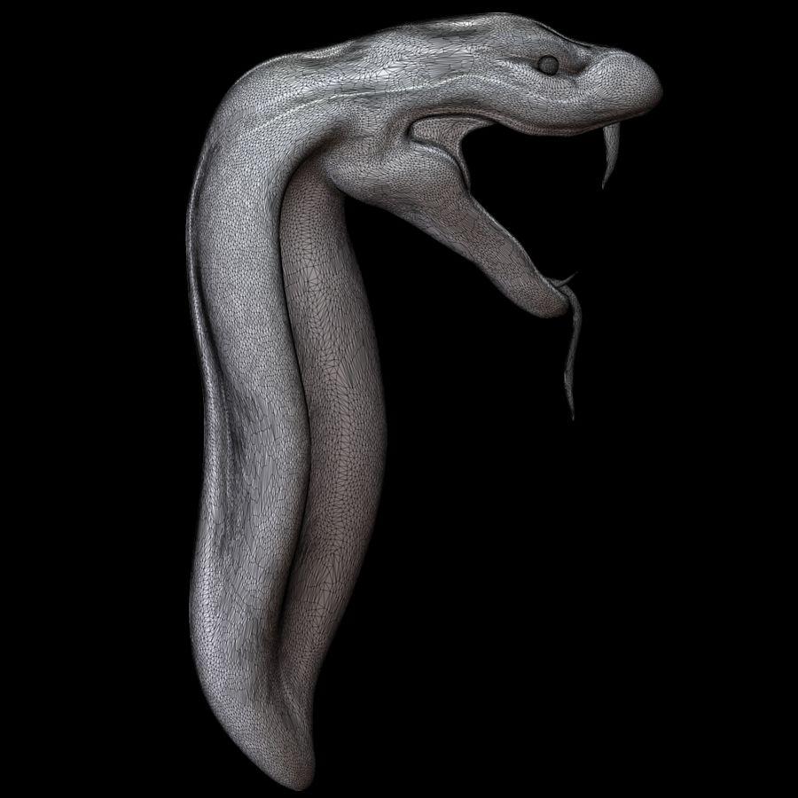 Sculpture tête de serpent royalty-free 3d model - Preview no. 15