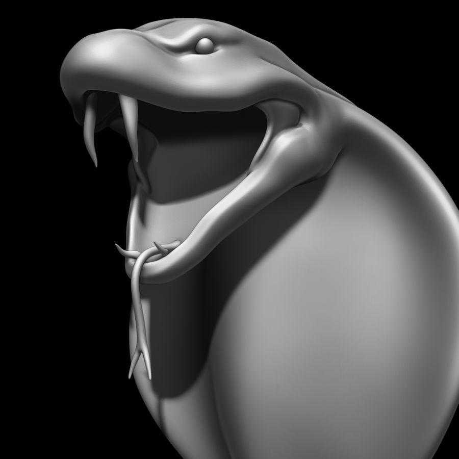 Scultura di testa di serpente royalty-free 3d model - Preview no. 12