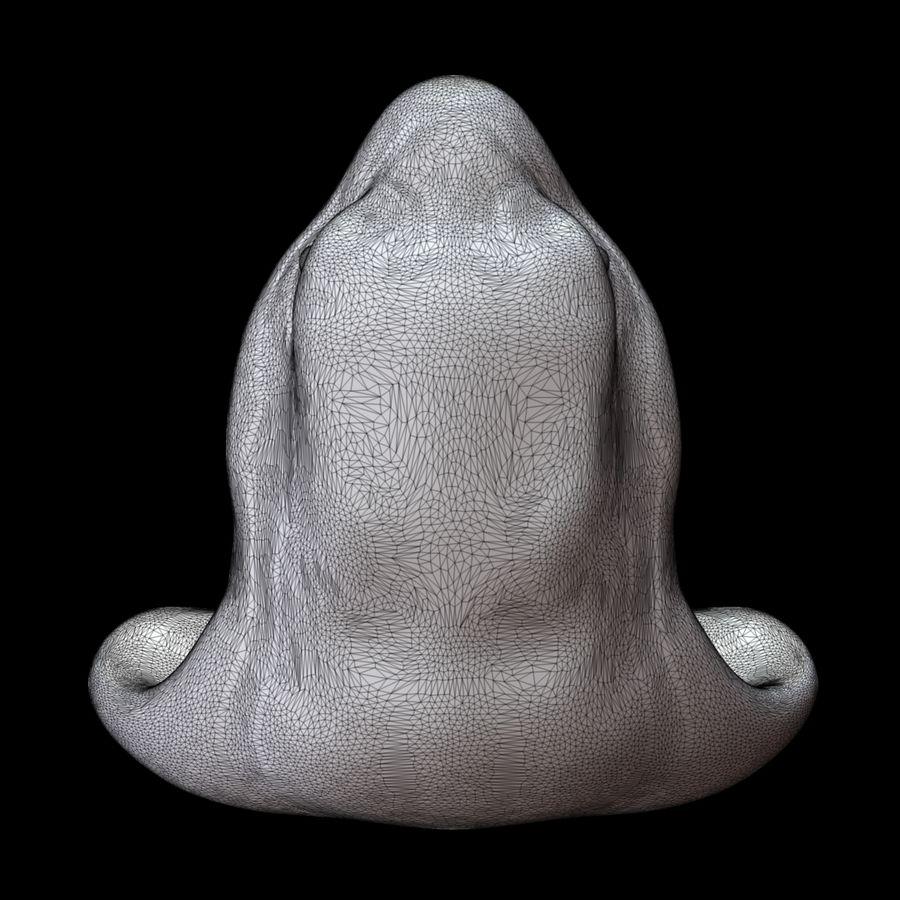 Sculpture tête de serpent royalty-free 3d model - Preview no. 17