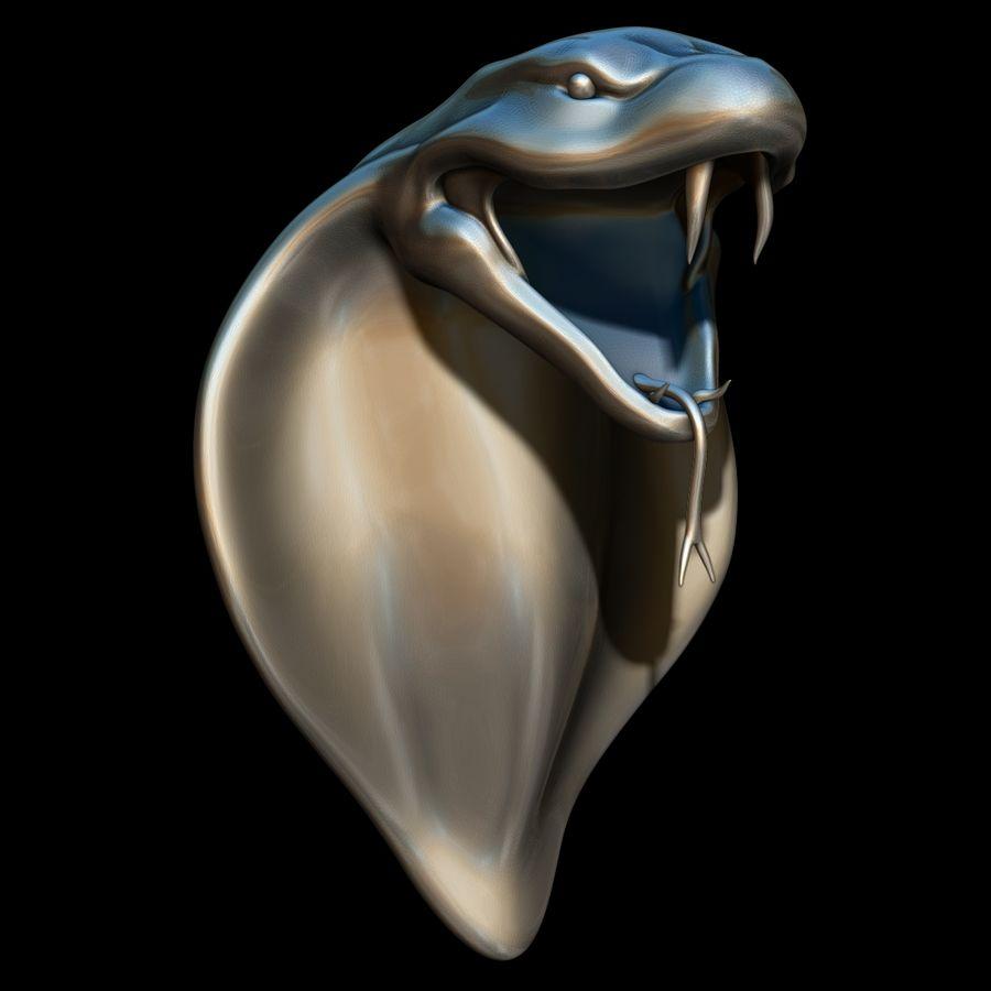 Scultura di testa di serpente royalty-free 3d model - Preview no. 1