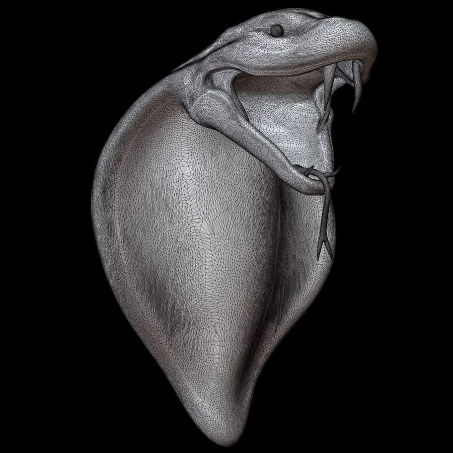 Scultura di testa di serpente royalty-free 3d model - Preview no. 14
