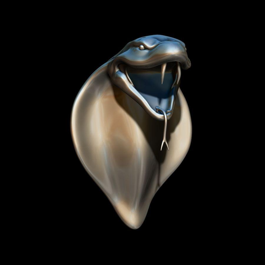 Scultura di testa di serpente royalty-free 3d model - Preview no. 8