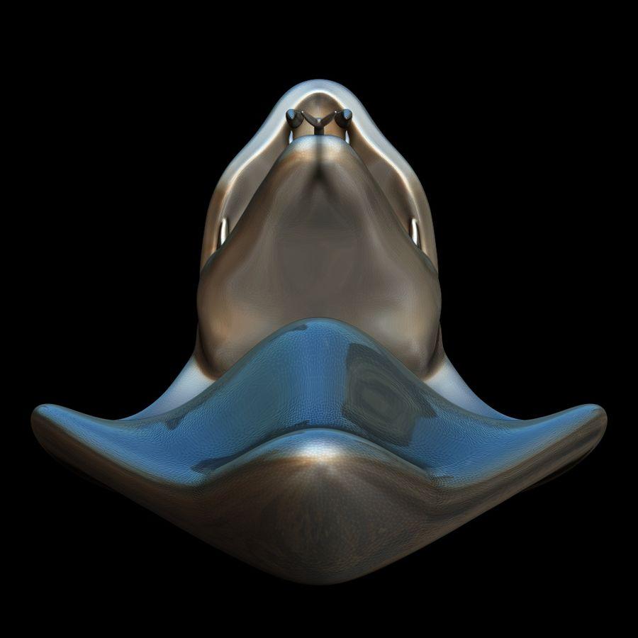 Sculpture tête de serpent royalty-free 3d model - Preview no. 6