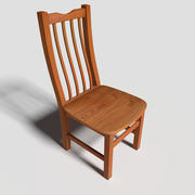 Wooden Dining Chair 3d model