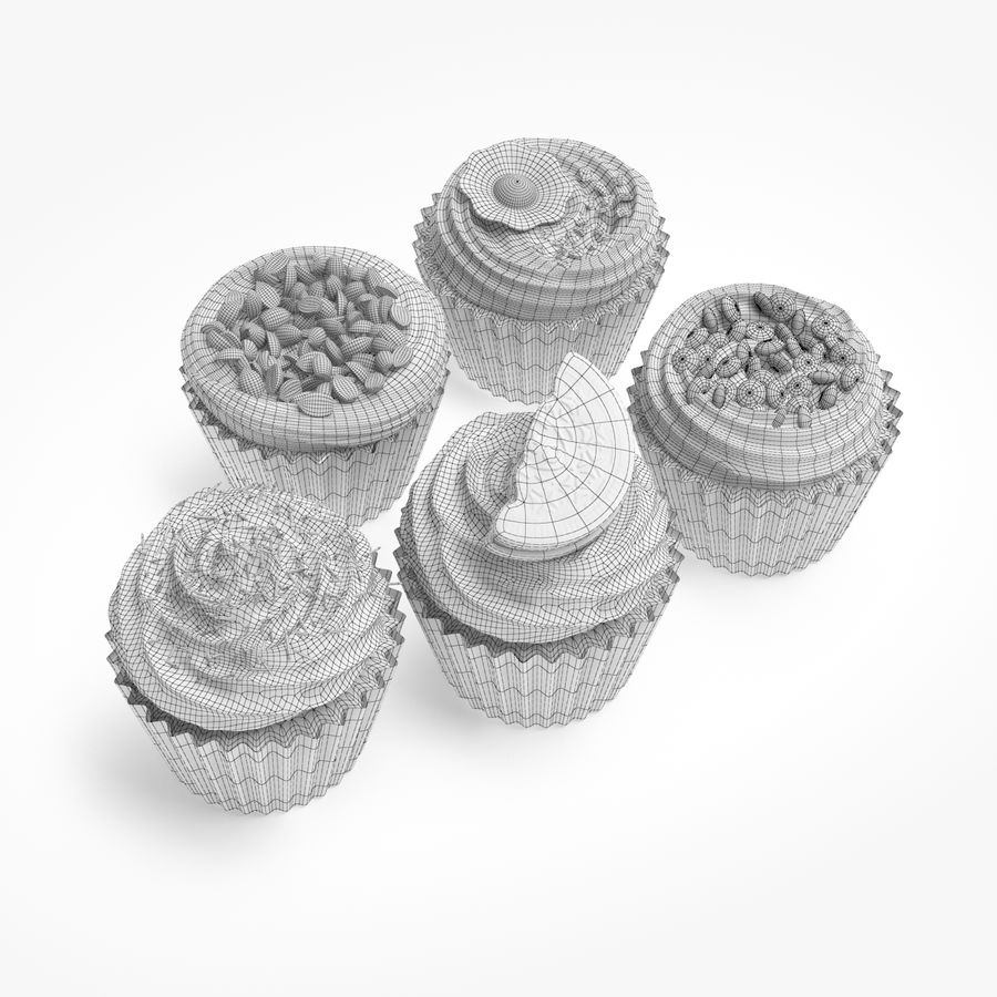 Cakes royalty-free 3d model - Preview no. 7