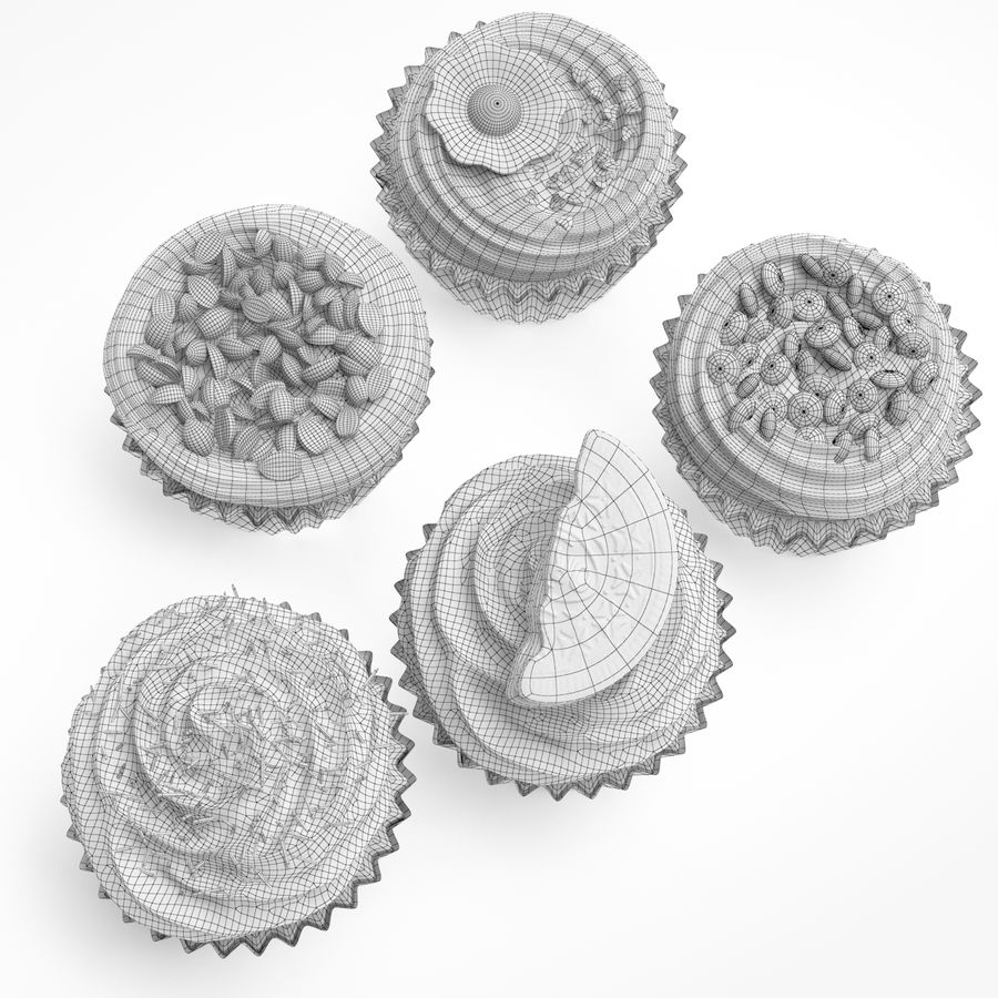 Cakes royalty-free 3d model - Preview no. 9
