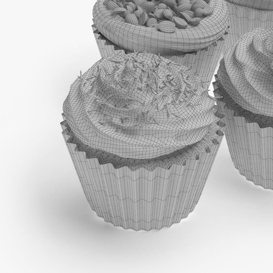 Cakes royalty-free 3d model - Preview no. 8