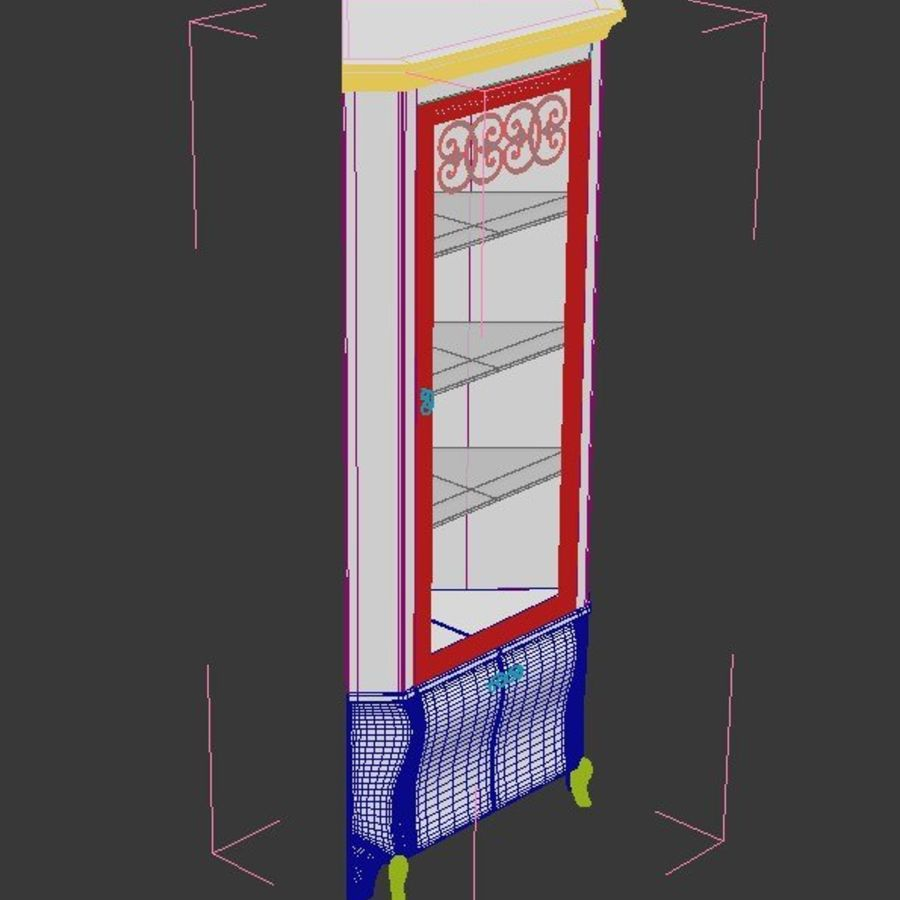 Dall Agnese Vitrine royalty-free 3d model - Preview no. 2