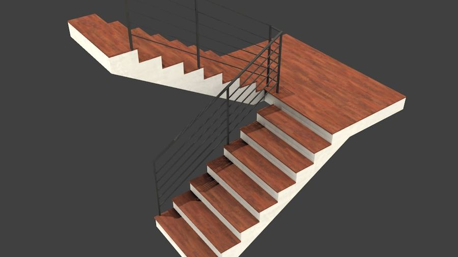 Treppe royalty-free 3d model - Preview no. 1