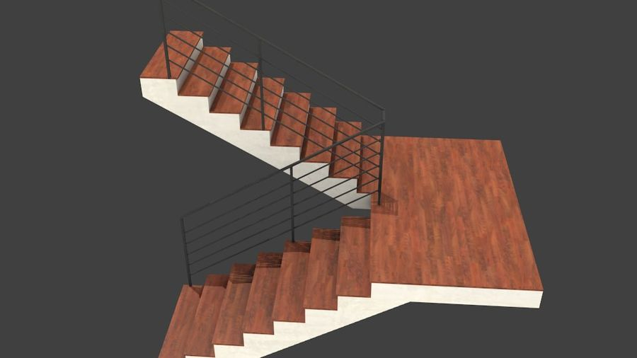Treppe royalty-free 3d model - Preview no. 3