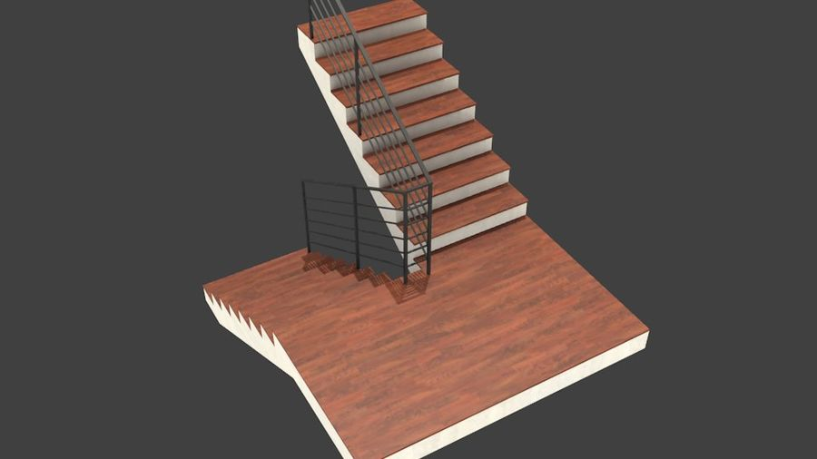 Treppe royalty-free 3d model - Preview no. 2