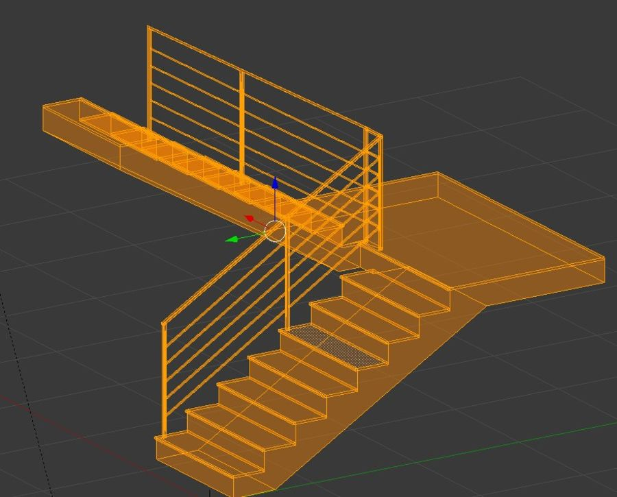 Treppe royalty-free 3d model - Preview no. 5