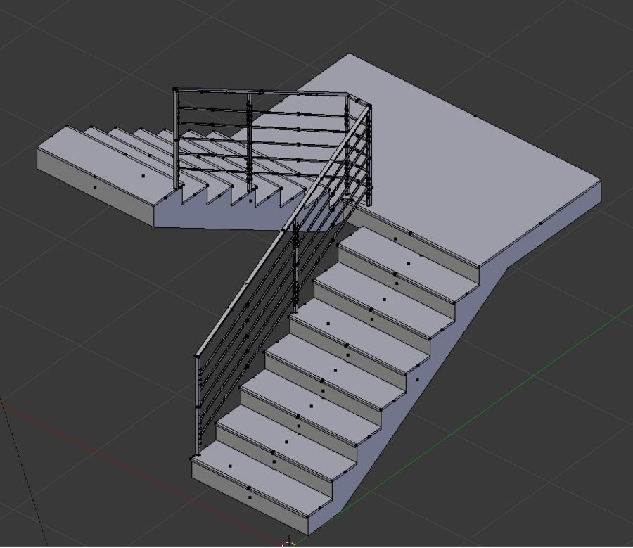 Treppe royalty-free 3d model - Preview no. 4