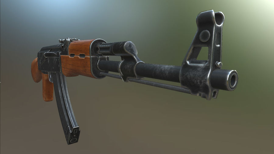 AK-47 royalty-free 3d model - Preview no. 12