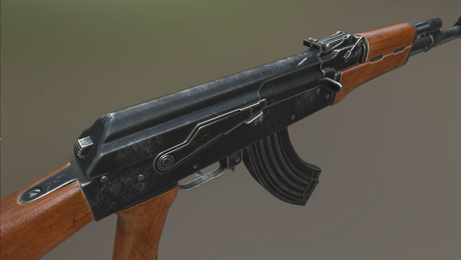 AK-47 royalty-free 3d model - Preview no. 13