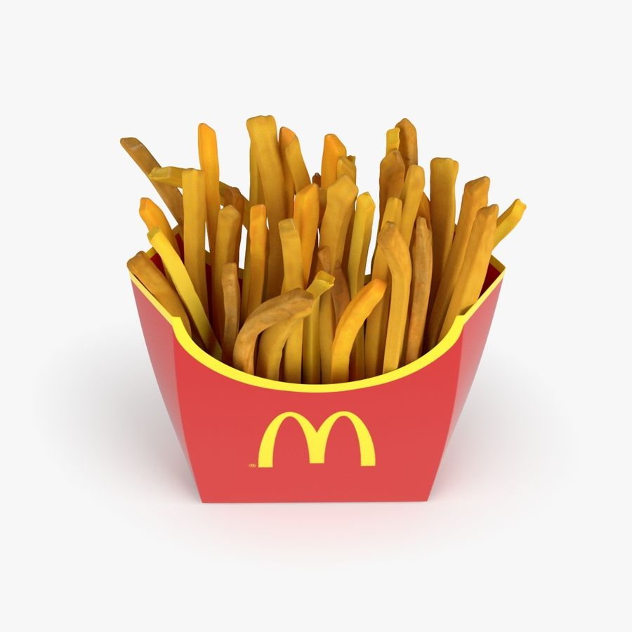 Pommes frites royalty-free 3d model - Preview no. 4