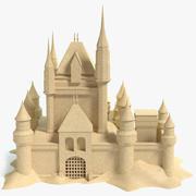 Zamek z piasku 3d model