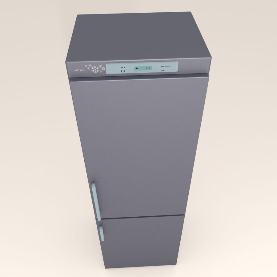 Refrigerator royalty-free 3d model - Preview no. 3