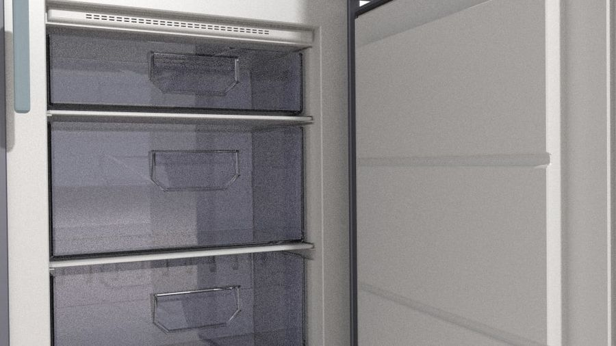 Refrigerator royalty-free 3d model - Preview no. 6