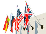 Facade flags set 3d model