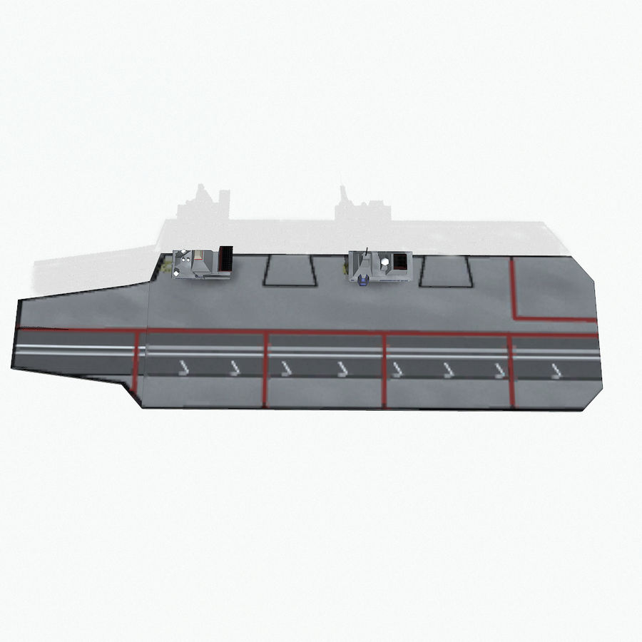 Queen-Elizabeth-class aircraft carrier royalty-free 3d model - Preview no. 12