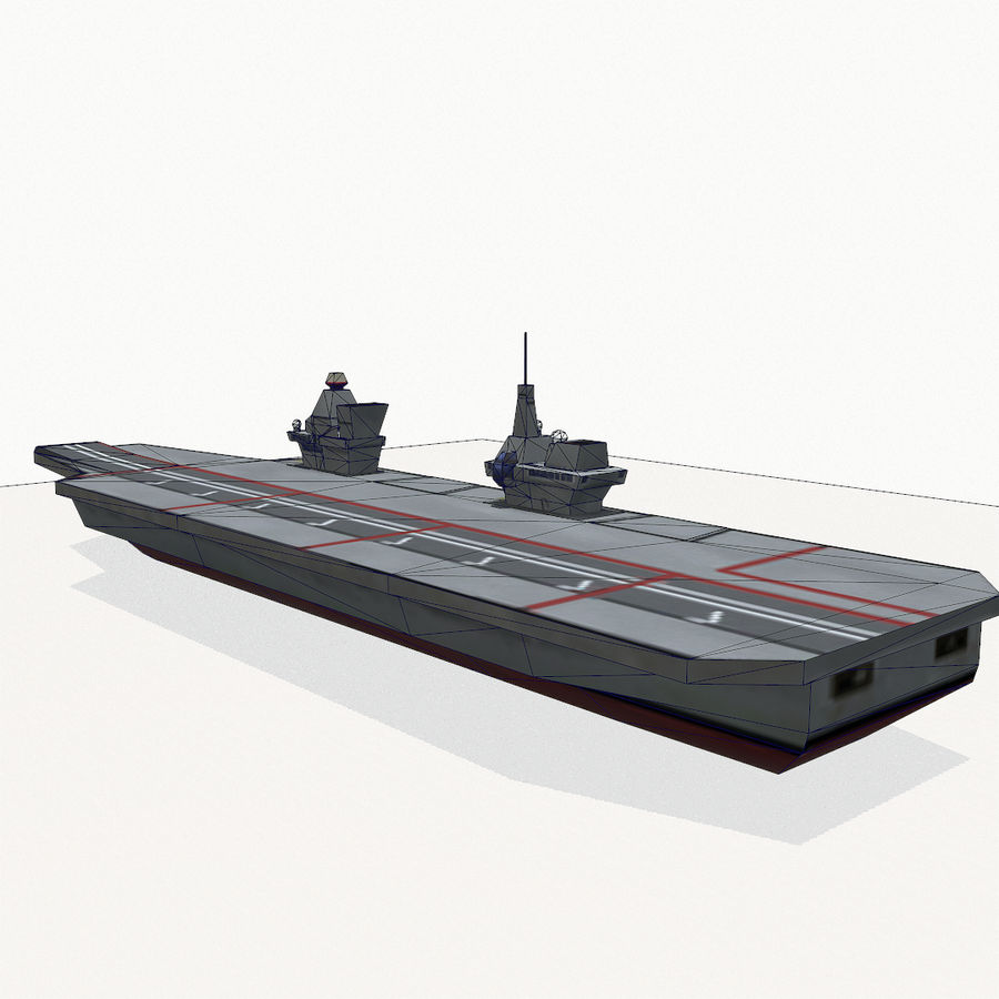 Queen-Elizabeth-class aircraft carrier royalty-free 3d model - Preview no. 16
