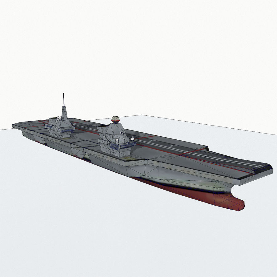 Queen-Elizabeth-class aircraft carrier royalty-free 3d model - Preview no. 14