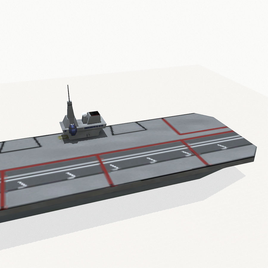 Queen-Elizabeth-class aircraft carrier royalty-free 3d model - Preview no. 9