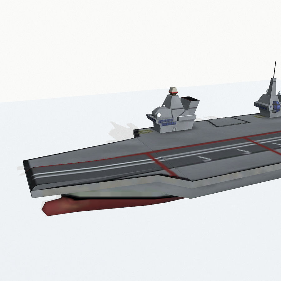 Queen-Elizabeth-class aircraft carrier royalty-free 3d model - Preview no. 8