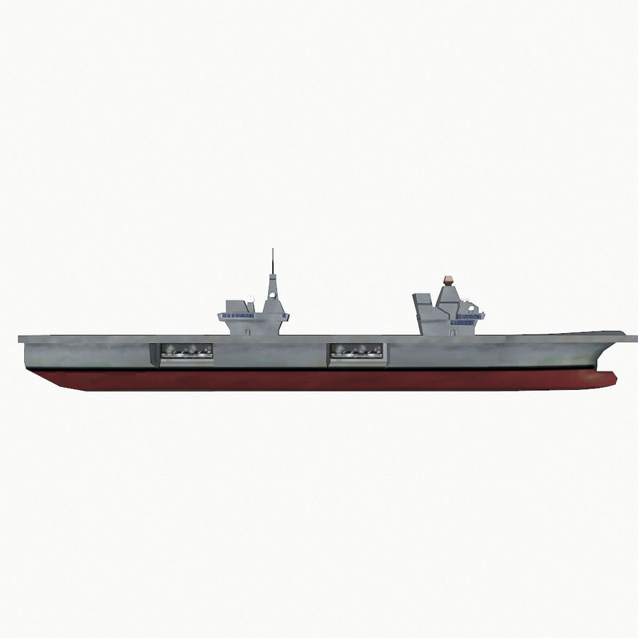 Queen-Elizabeth-class aircraft carrier royalty-free 3d model - Preview no. 11