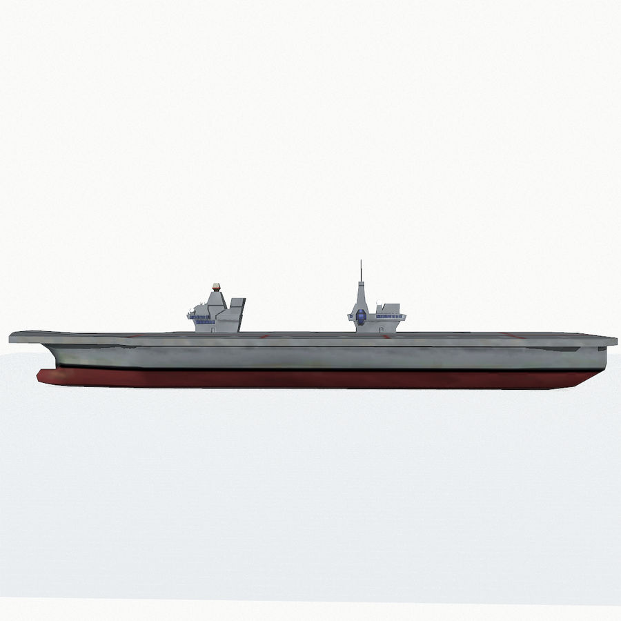 Queen-Elizabeth-class aircraft carrier royalty-free 3d model - Preview no. 10