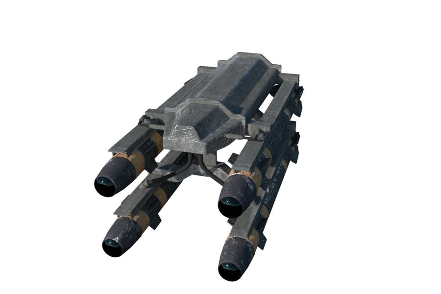 Missile Launcher/Hellfire royalty-free 3d model - Preview no. 5