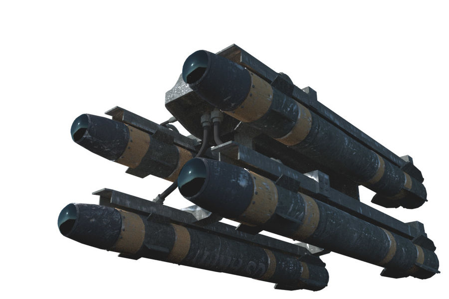 Missile Launcher/Hellfire royalty-free 3d model - Preview no. 13