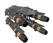 Wyrzutnia rakiet / Hellfire 3d model