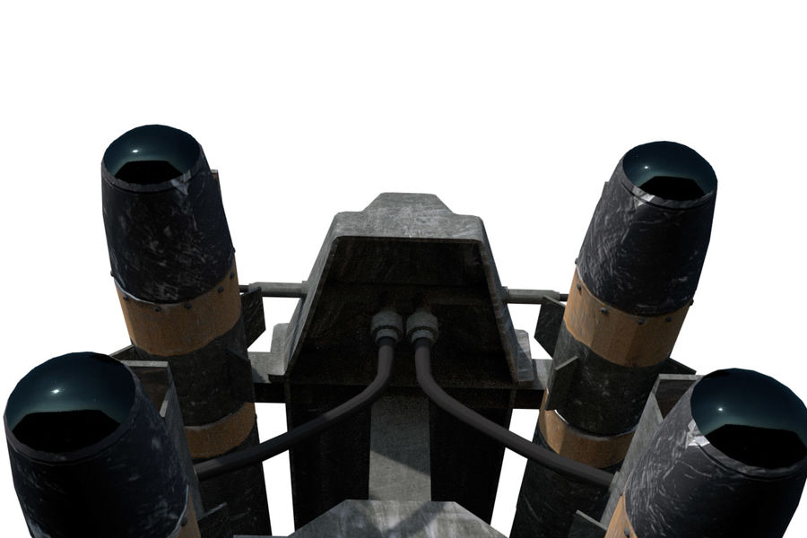Missile Launcher/Hellfire royalty-free 3d model - Preview no. 11