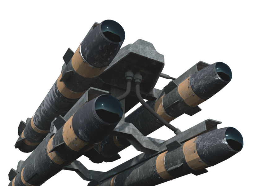 Missile Launcher/Hellfire royalty-free 3d model - Preview no. 12