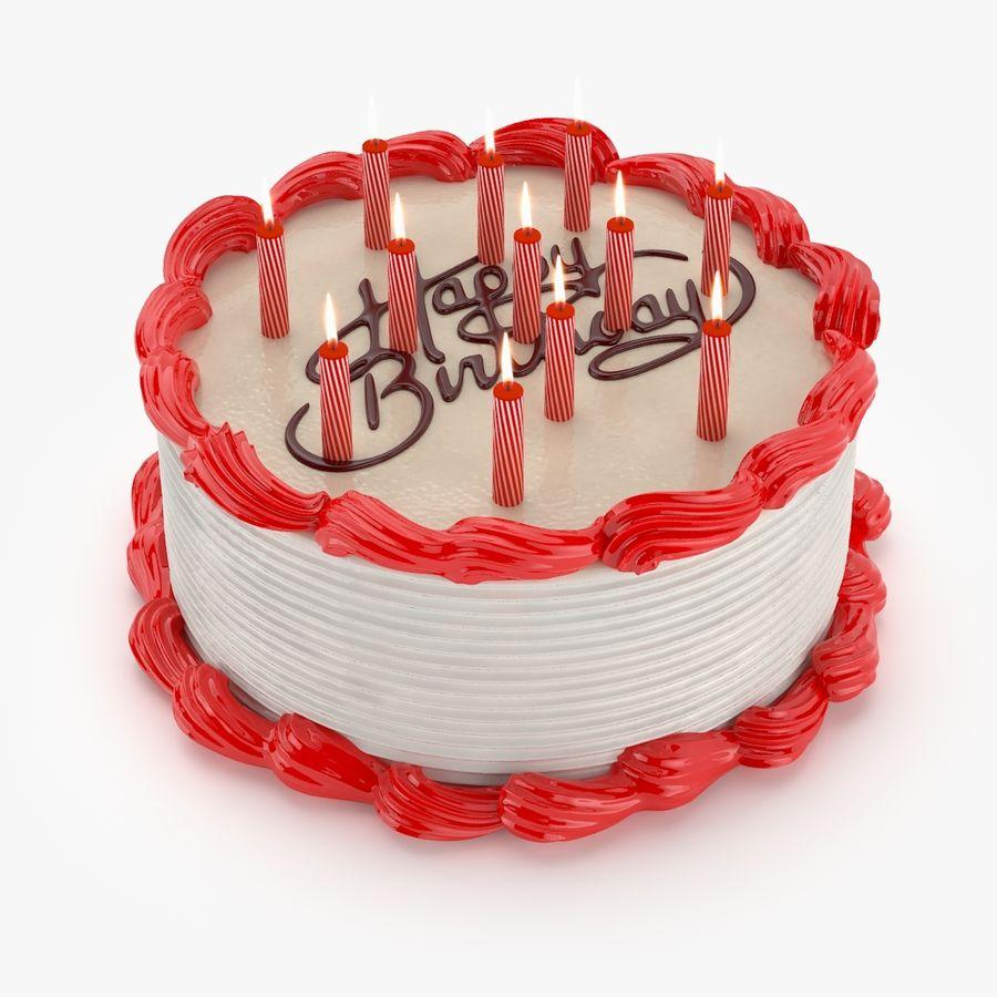 Gâteau d'anniversaire royalty-free 3d model - Preview no. 1