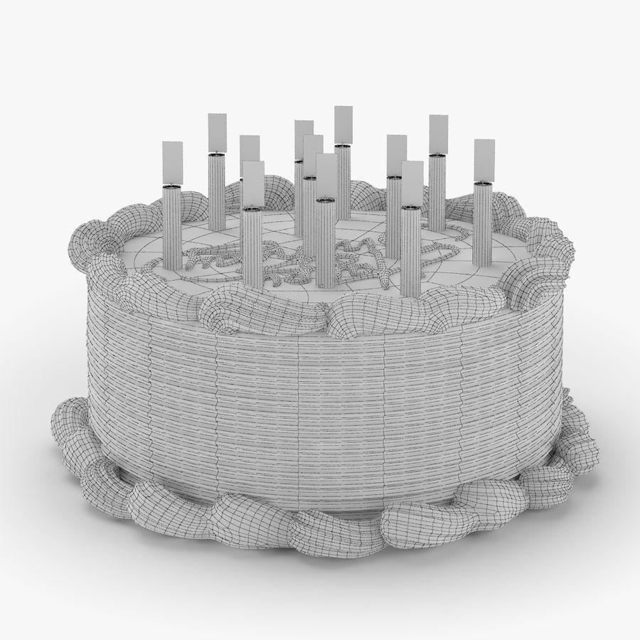 Gâteau d'anniversaire royalty-free 3d model - Preview no. 5