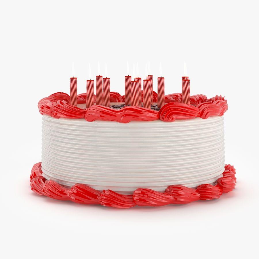 Gâteau d'anniversaire royalty-free 3d model - Preview no. 2