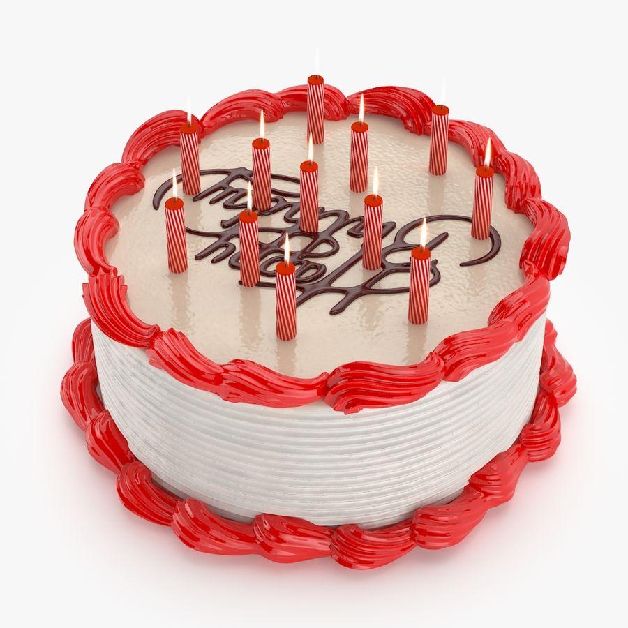 Gâteau d'anniversaire royalty-free 3d model - Preview no. 3