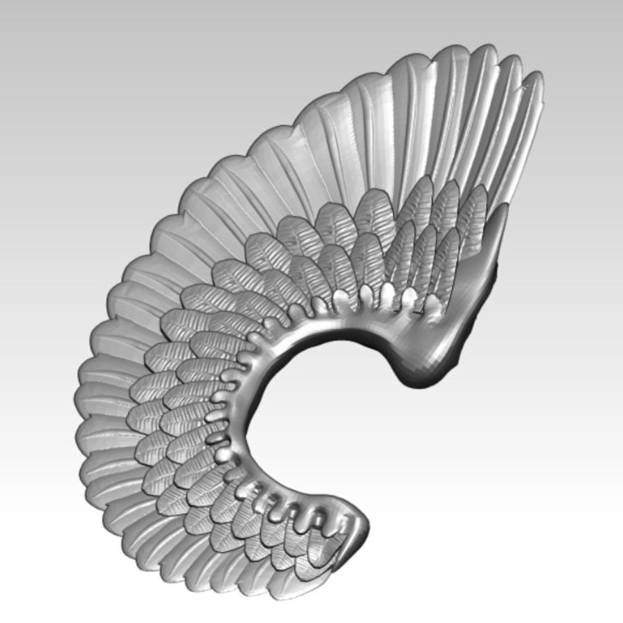 Animal bird angel wings royalty-free 3d model - Preview no. 1