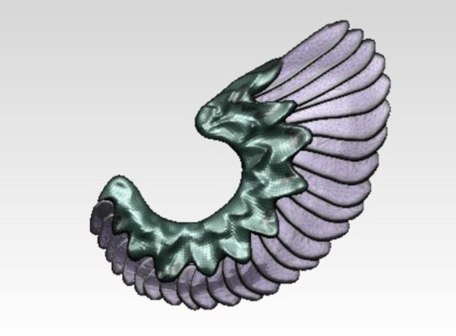Animal bird angel wings royalty-free 3d model - Preview no. 5