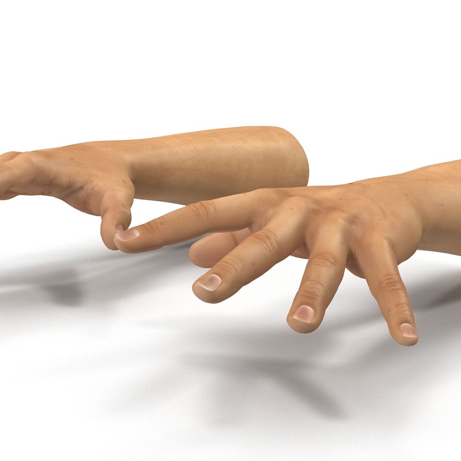 Man Hands 2 Pose 4 royalty-free 3d model - Preview no. 10