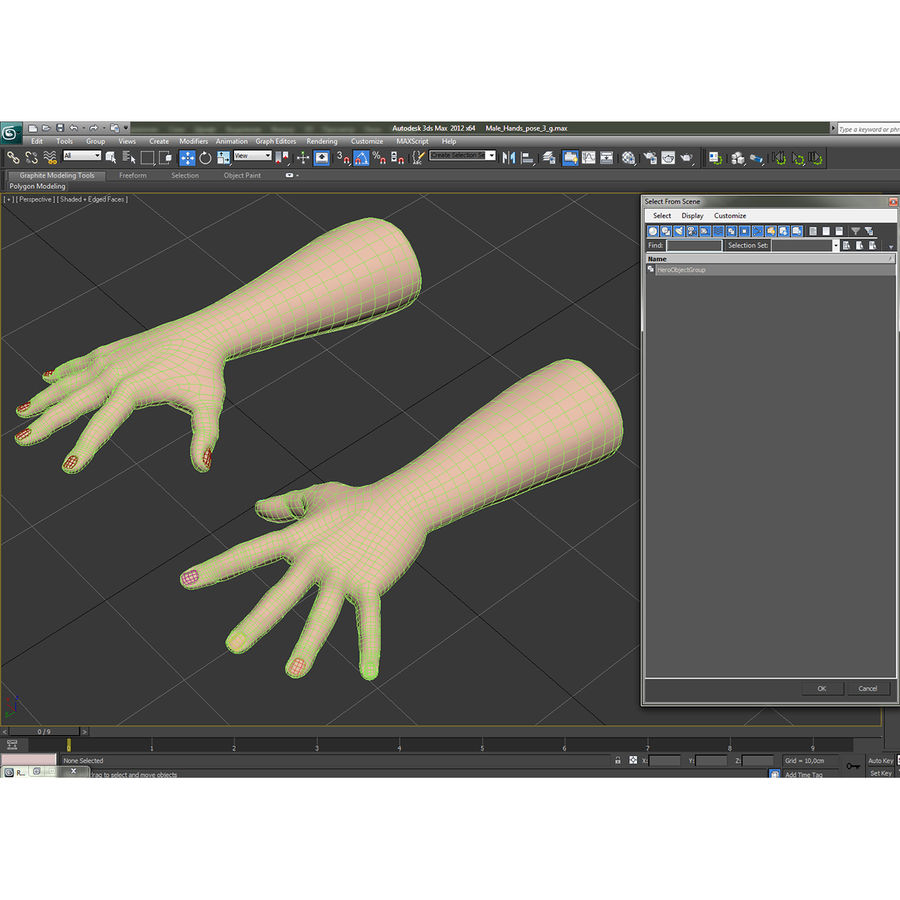 Man Hands 2 Pose 4 royalty-free 3d model - Preview no. 16