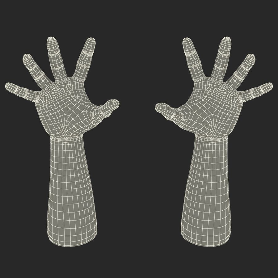 Man Hands 2 Pose 4 royalty-free 3d model - Preview no. 21