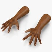 African Man Hands 3 Pose 4 3d model