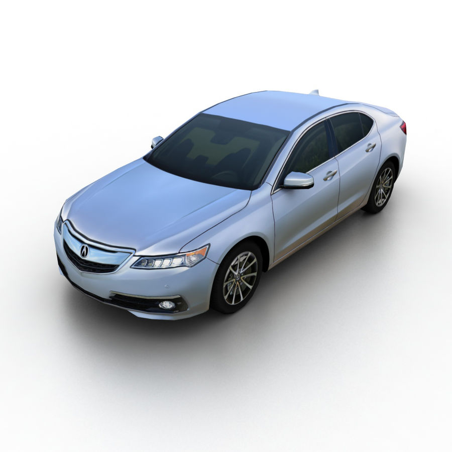 Acura TLX 2015 3D Model $35